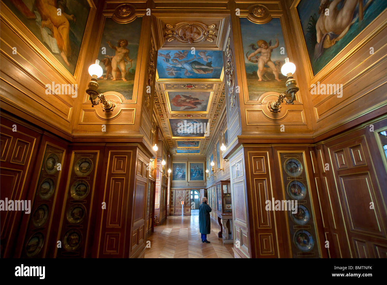 FRANCE, FONTAINEBLEAU CASTLE, THE PLATES GALLERY Stock Photo