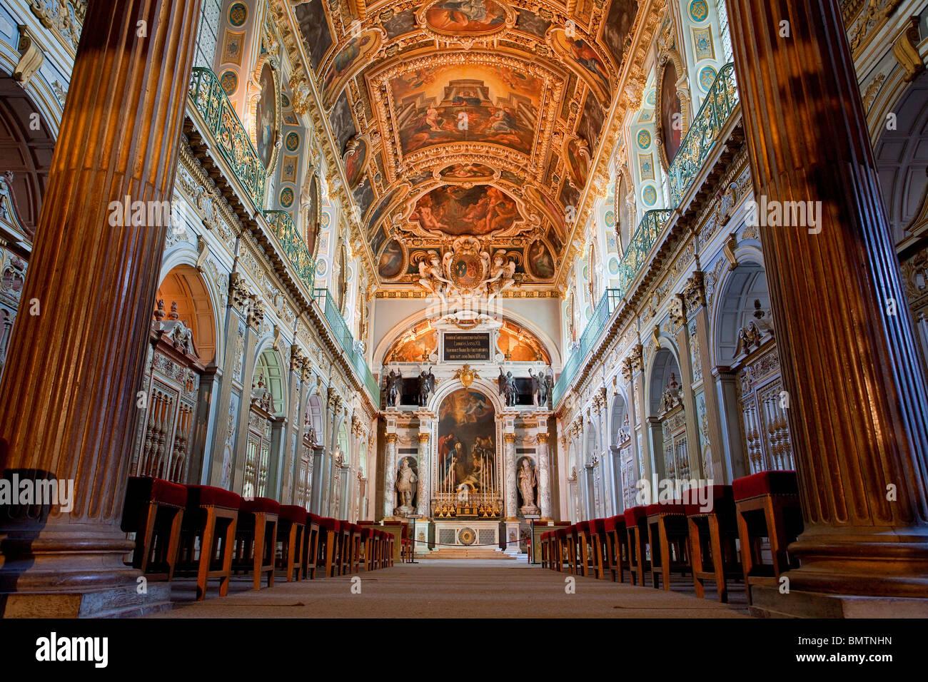 FRANCE, FONTAINEBLEAU CASTLE, Chapelle de la Trinite (Trinity Chapel) - Stock Image