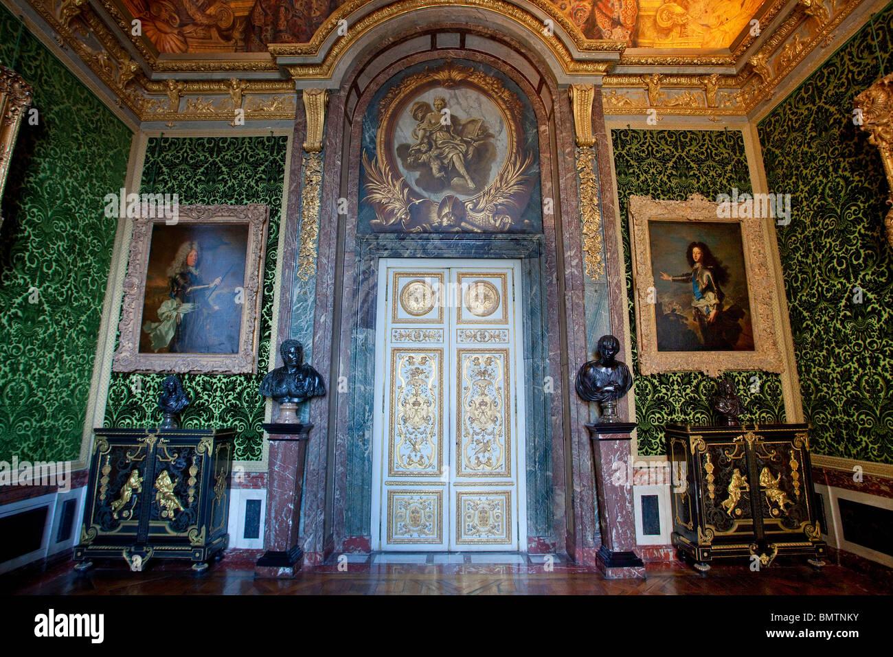 Chateau de Versailles, Les Grands Appartements (State Apartments), Salon de l'Abondance - Stock Image