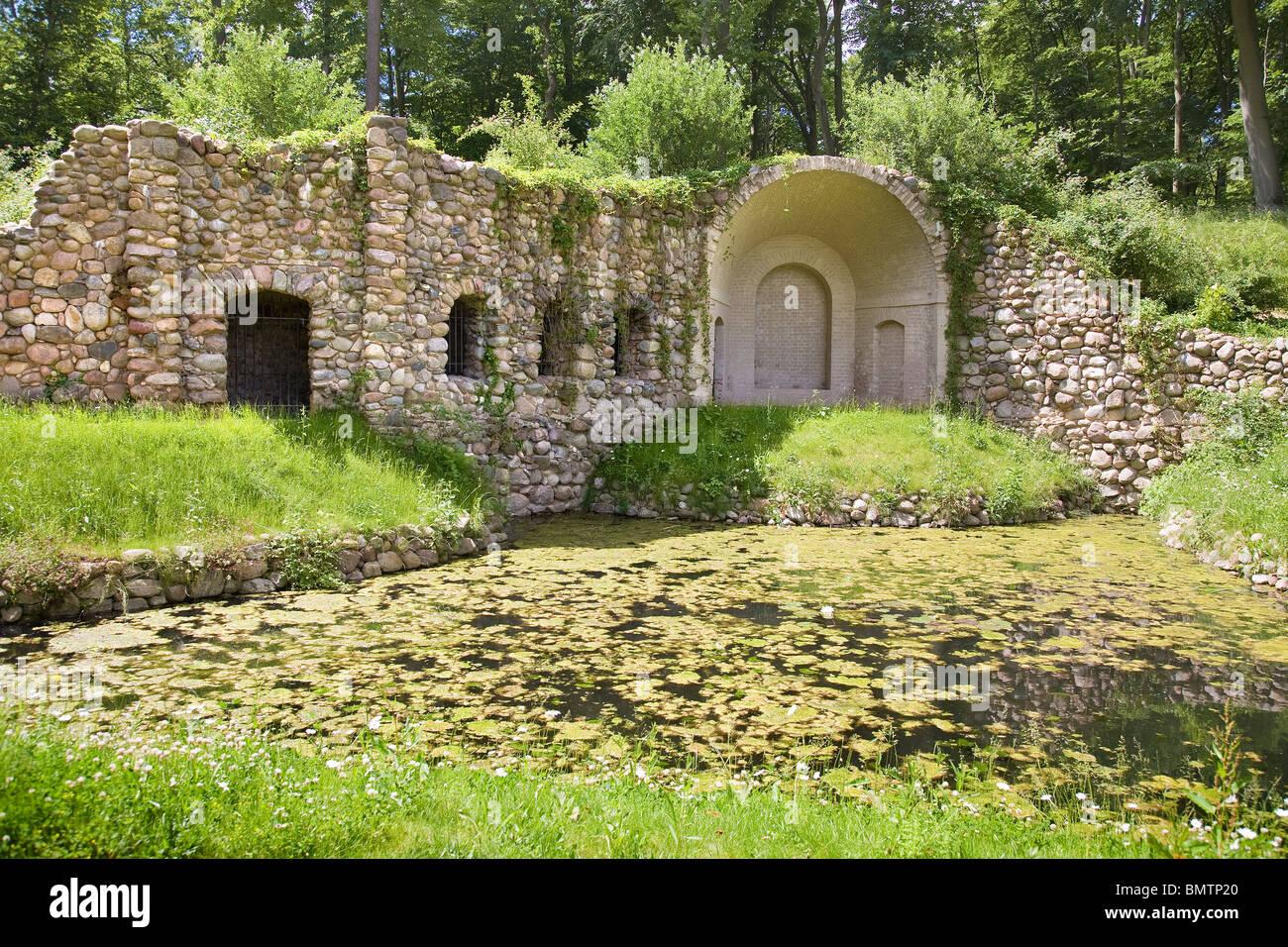 Schloss Rheinsberg, Brandenburg, Germany – Grotte der Egeria - Stock Image