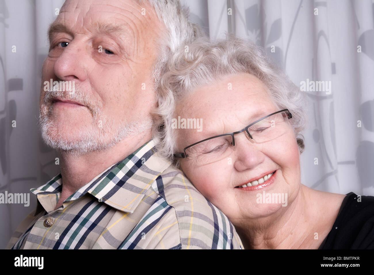 portrait of an elderly couple - Stock Image