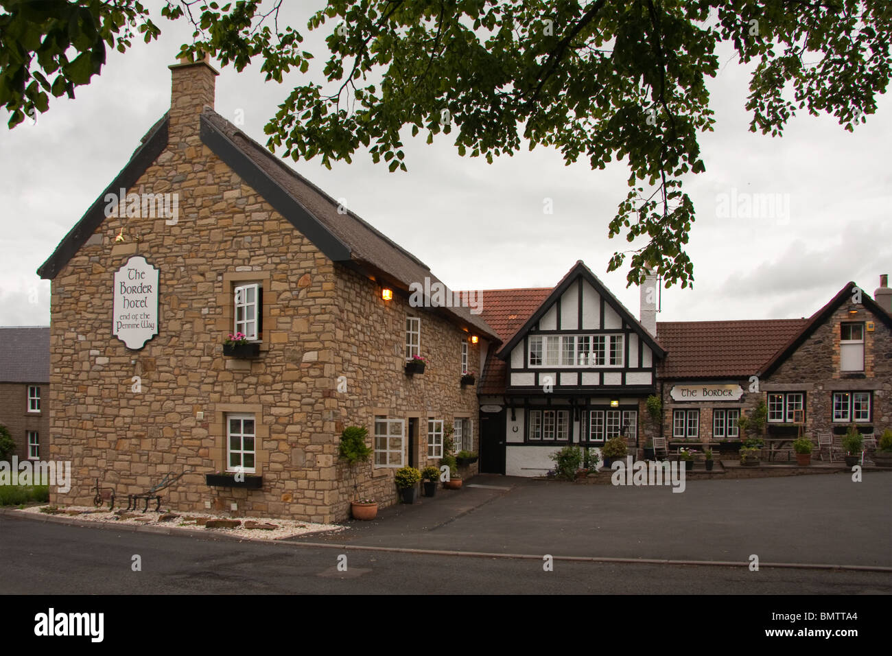 The Border Hotel, Kirk Yetholm, end of the Pennine Way - Stock Image