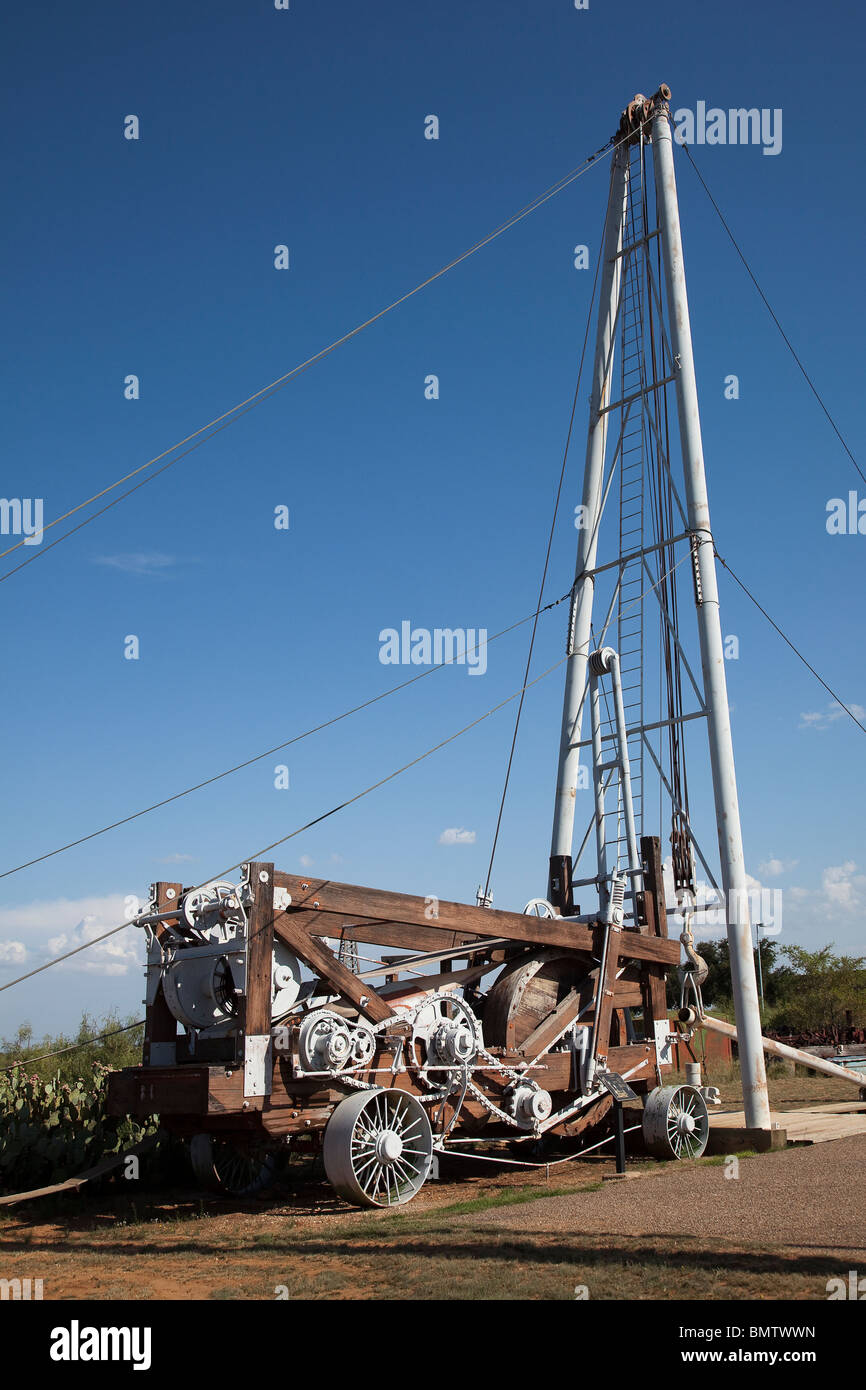 Star Spudder 45C oil drilling machine Petroleum Museum Midland Texas USA - Stock Image