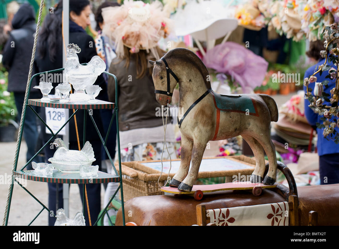 Milan, Horticultural Fair, antiques, horse, gifts, crafts, hobby, gardening, flowers, green, nature, Stock Photo