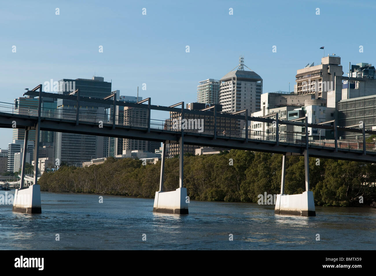 Goodwill Bridge, Brisbane, Queensland, Australia - Stock Image