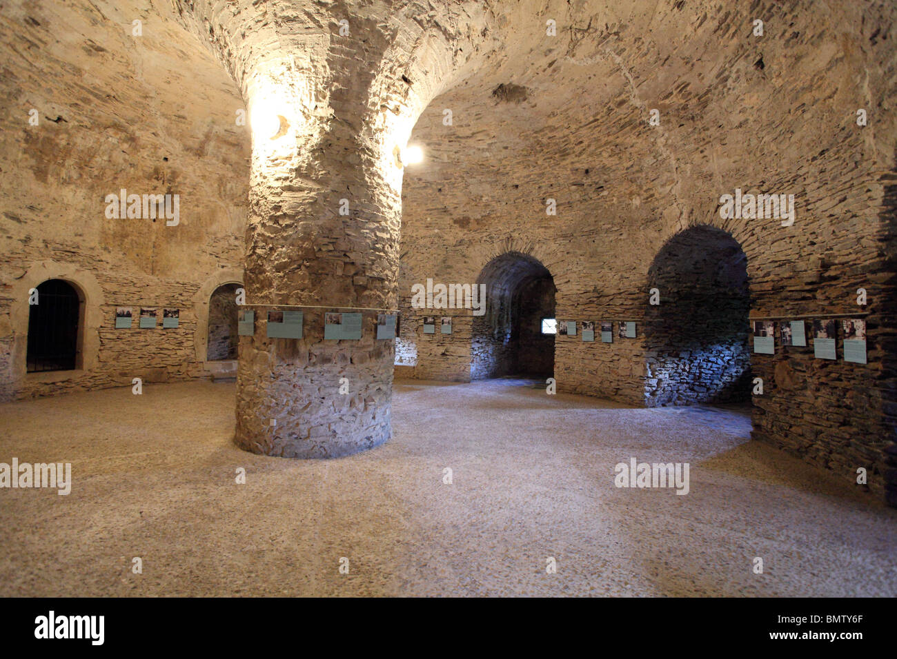 The stone cellar at the medieval castle Cerveny Kamen Slovakia. & The stone cellar at the medieval castle Cerveny Kamen Slovakia ...