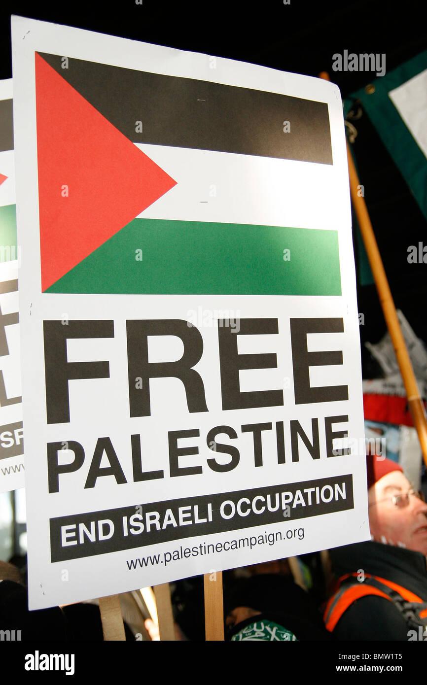 Free Palestine demo - Stock Image