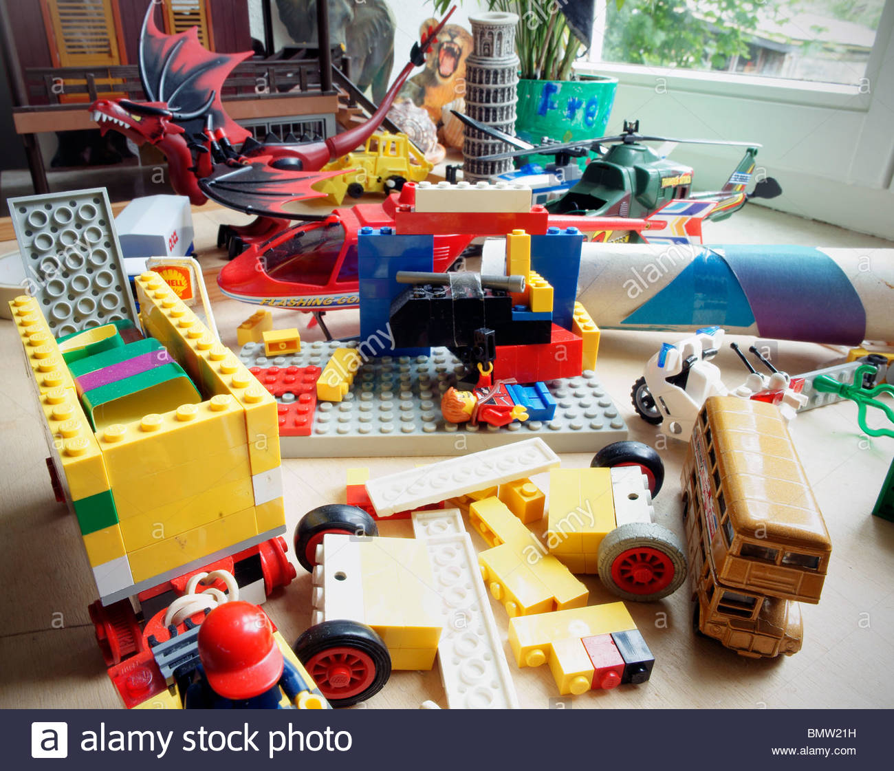 pile of toys in childrens bedroom lego stock photo 30053901 alamy