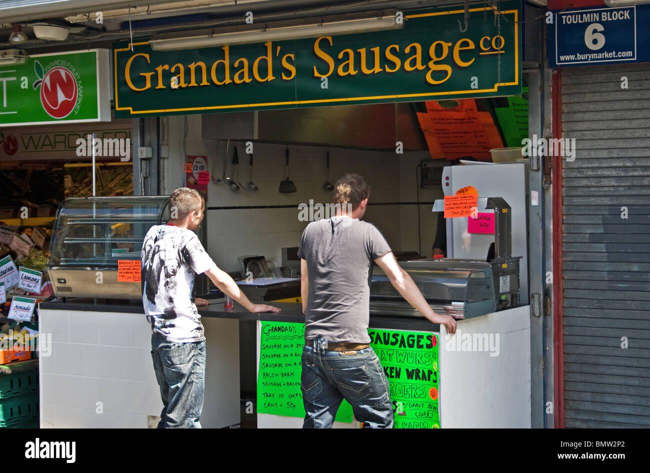 Stall in Bury  Market, Bury, Greater Manchester, UK. Stock Photo