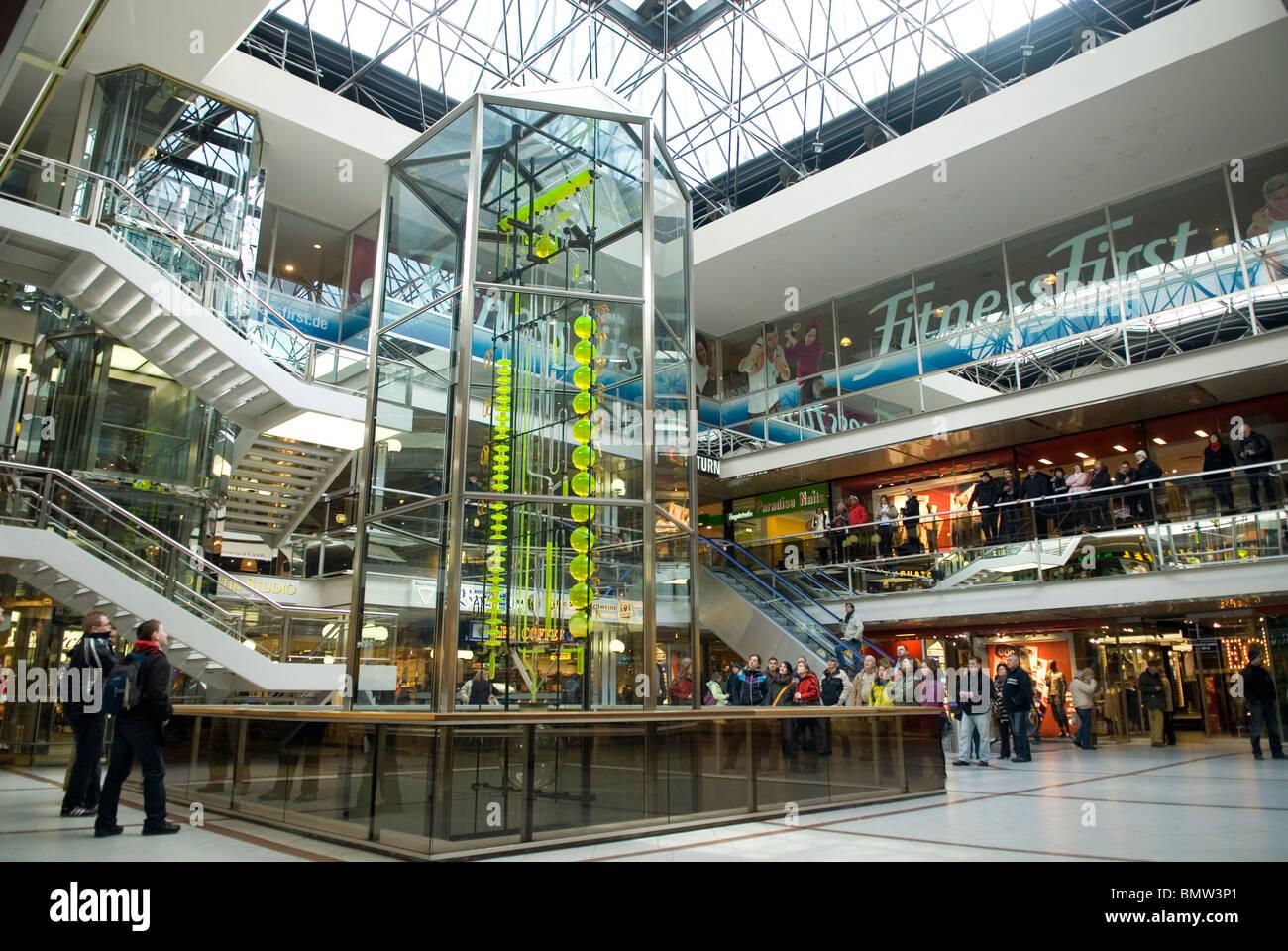 07e40bf16 Tourists inside Europa shopping centre Charlottenburg Berlin city Germany -  Stock Image