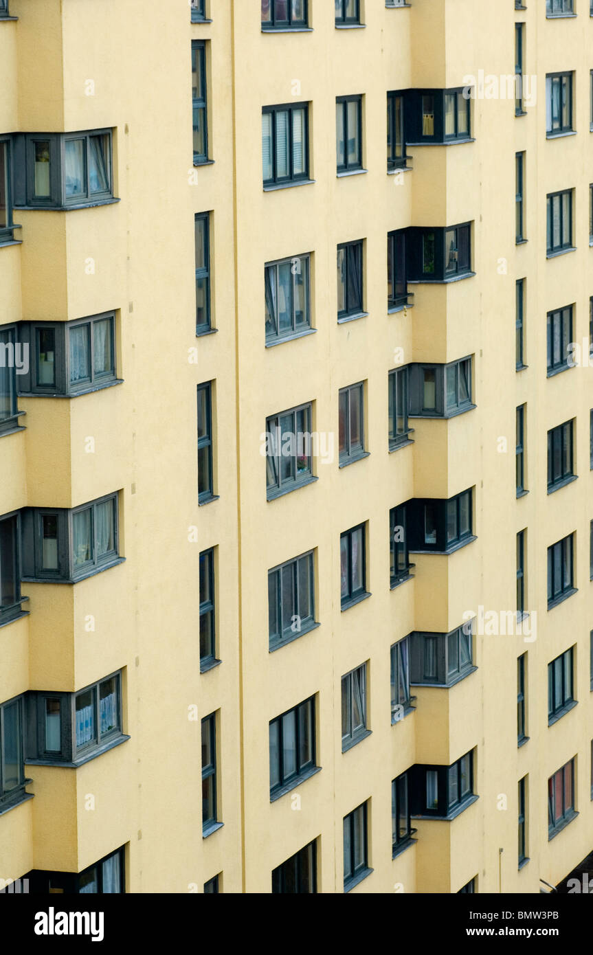 Apartment building exteriors Berlin Germany - Stock Image