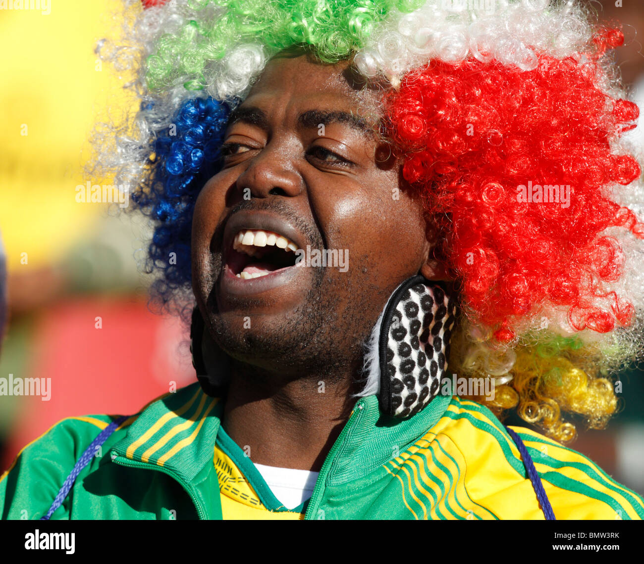 Spectator at a 2010 FIFA World Cup football match between Slovenia and the USA June 18, 2010. - Stock Image