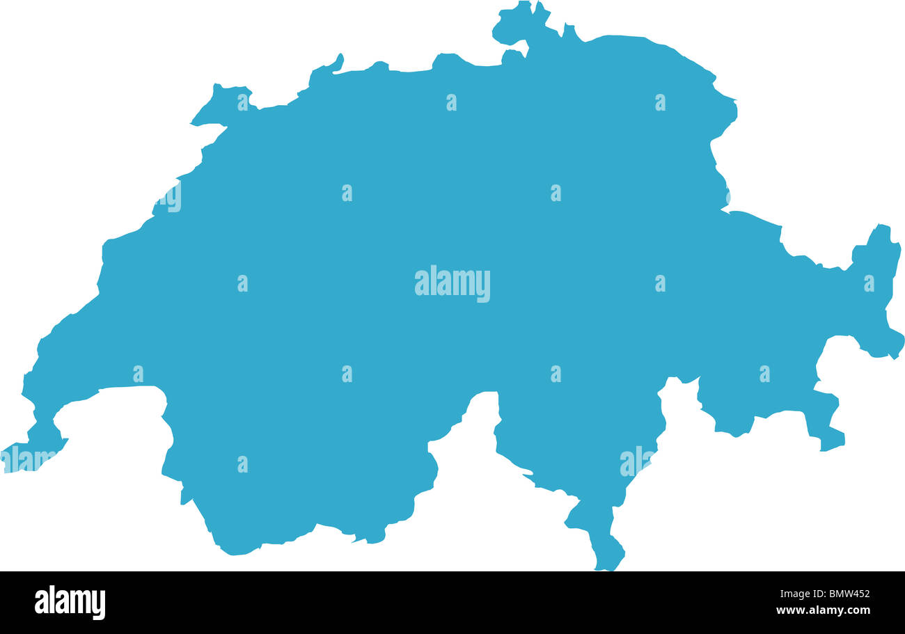 Picture of: There Is A Map Of Switzerland Country Stock Photo Alamy