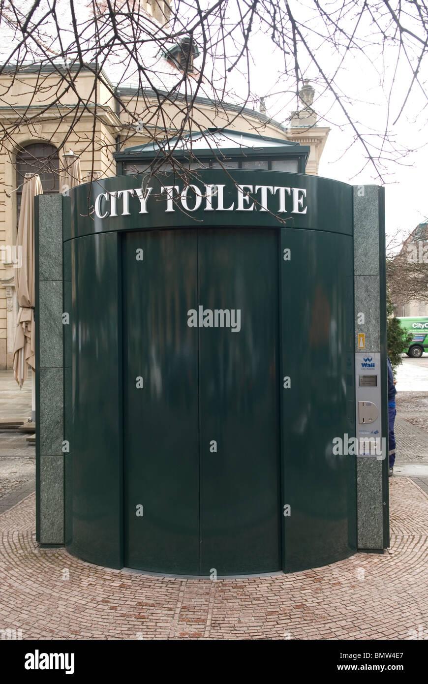 Public city toilette Gendarmenmarkt Berlin Germany Europe - Stock Image
