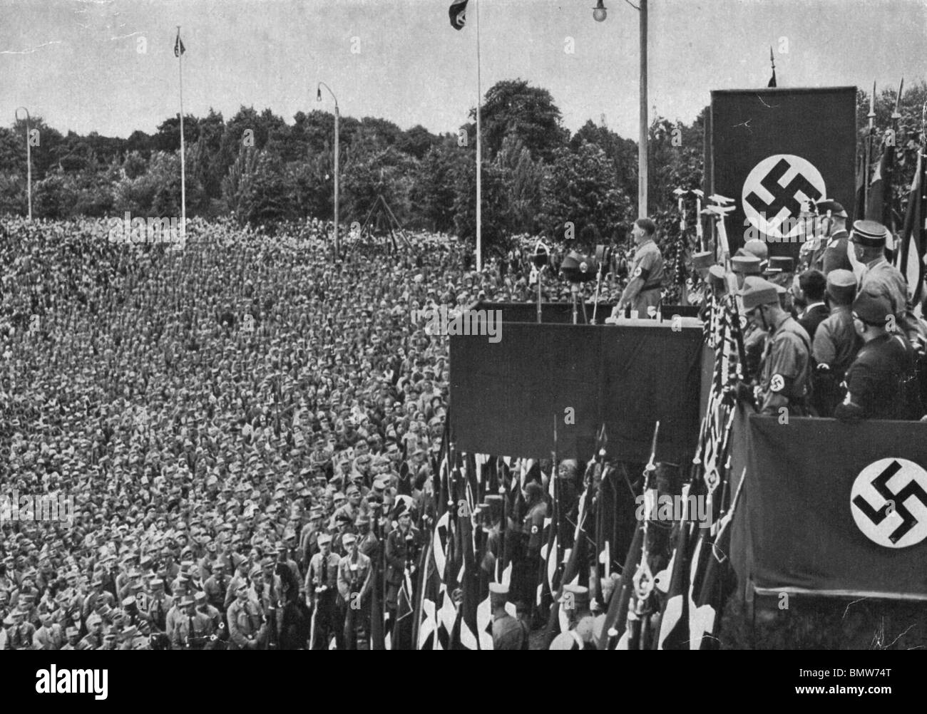 adolf hitler makes a speech in dortmund in 1933 stock photo 30057912 alamy. Black Bedroom Furniture Sets. Home Design Ideas