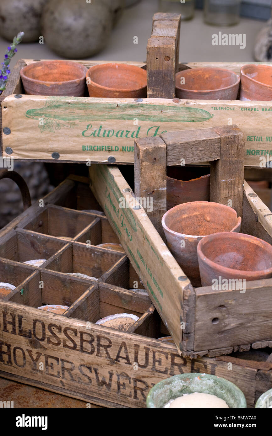 vases, baskets, crafts, hobbies, gardening, flowers, green, nature, - Stock Image