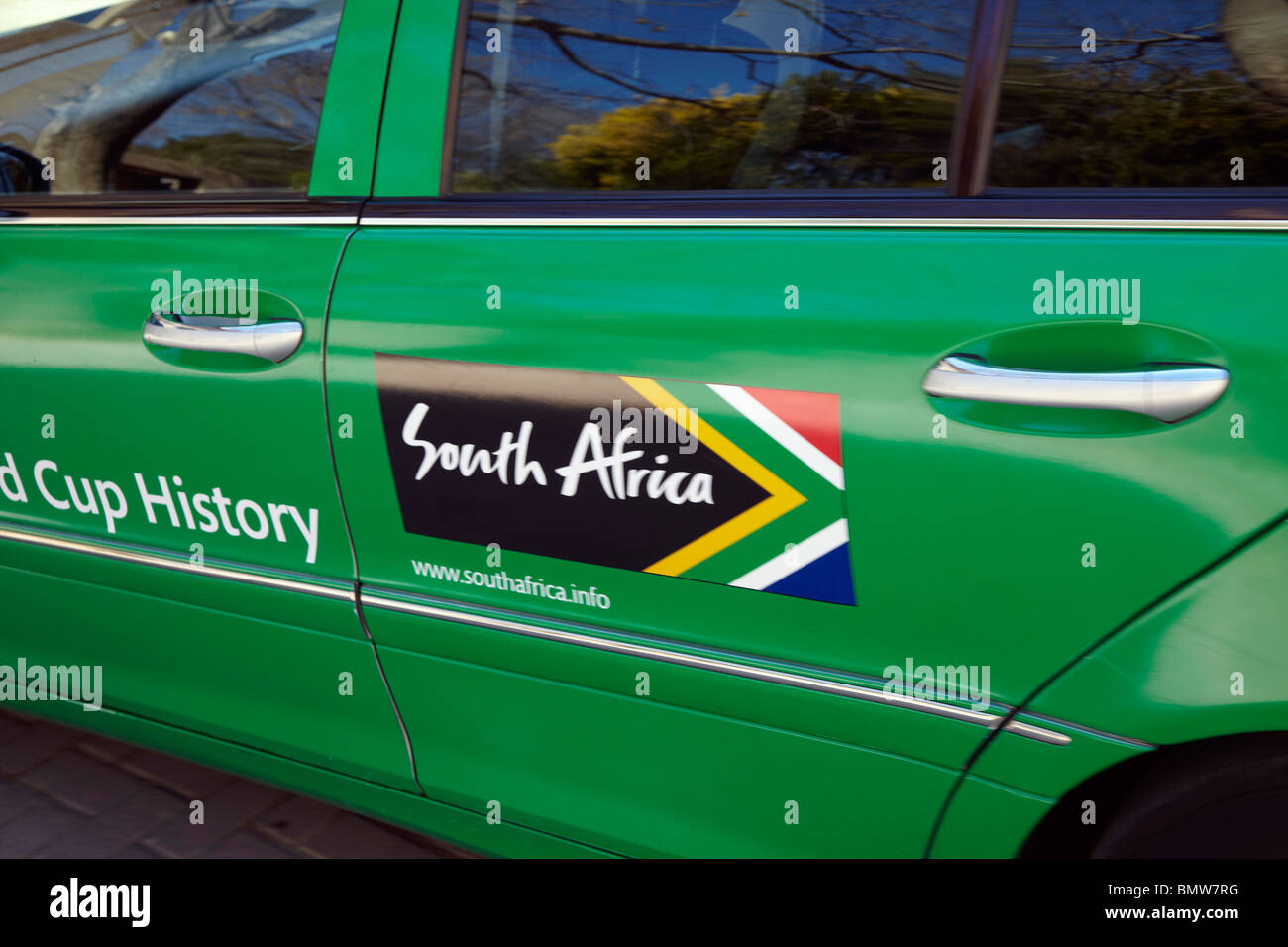 World cup taxi south africa stock image