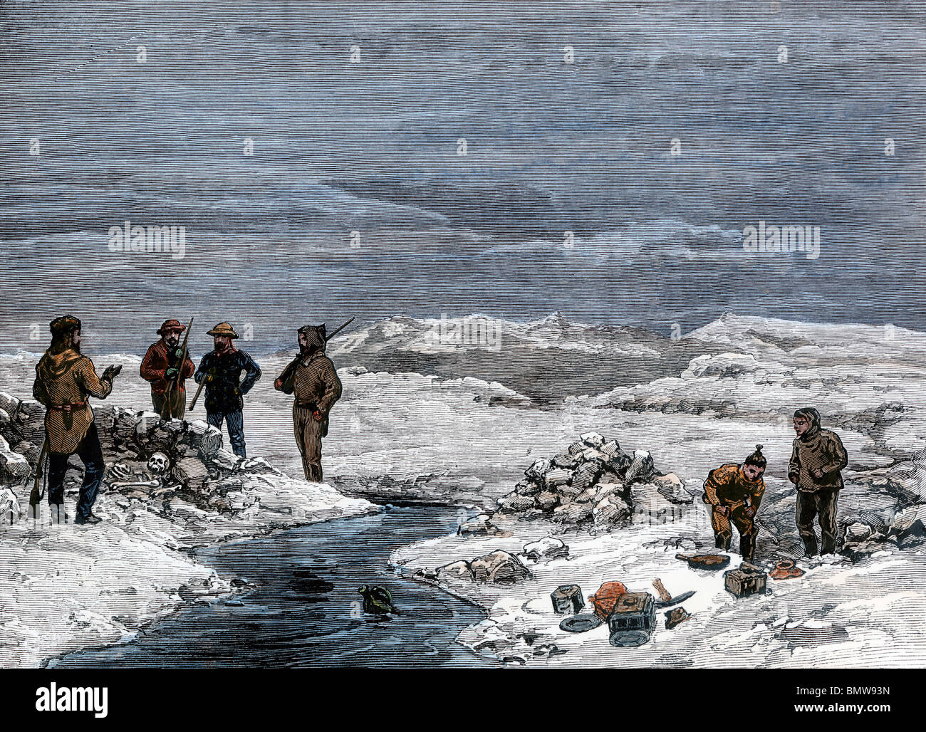 Grave of Franklin Expedition member Lt. John Irving found by Schwatka's American search party in Greenland, - Stock Image