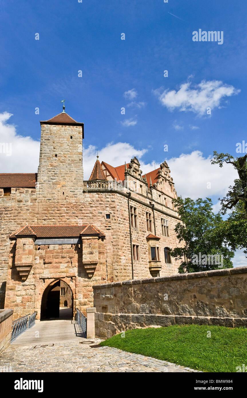 Historic city of Cadolzburg, Free State of Bavaria Stock Photo ...