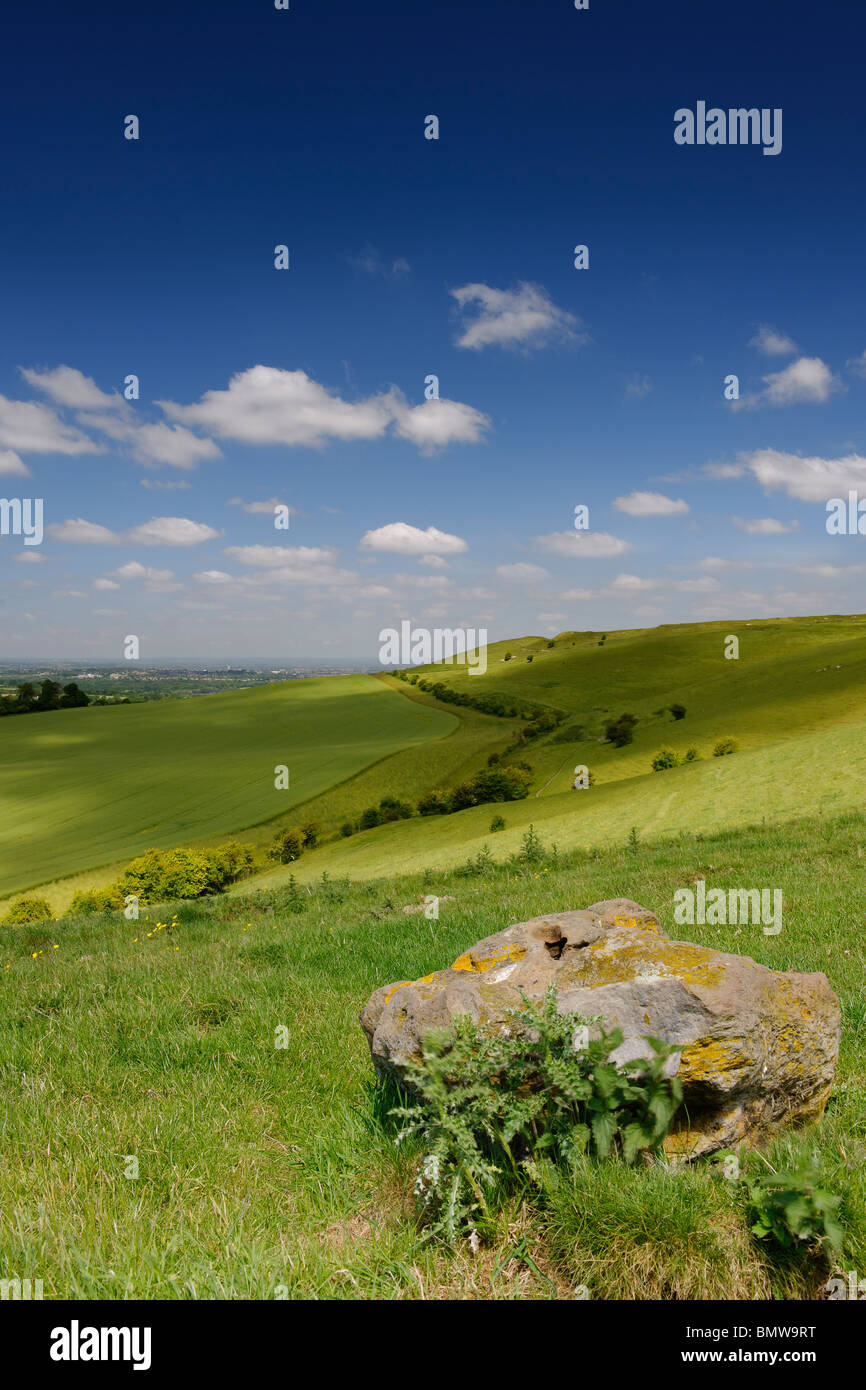 Summer clouds over the Wiltshire Downs - Stock Image