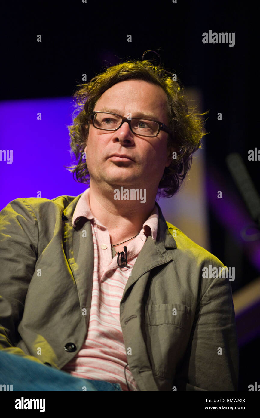Hugh Fearnley-Whittingstall pictured at Hay Festival 2010 Hay on Wye Powys Wales UK - Stock Image