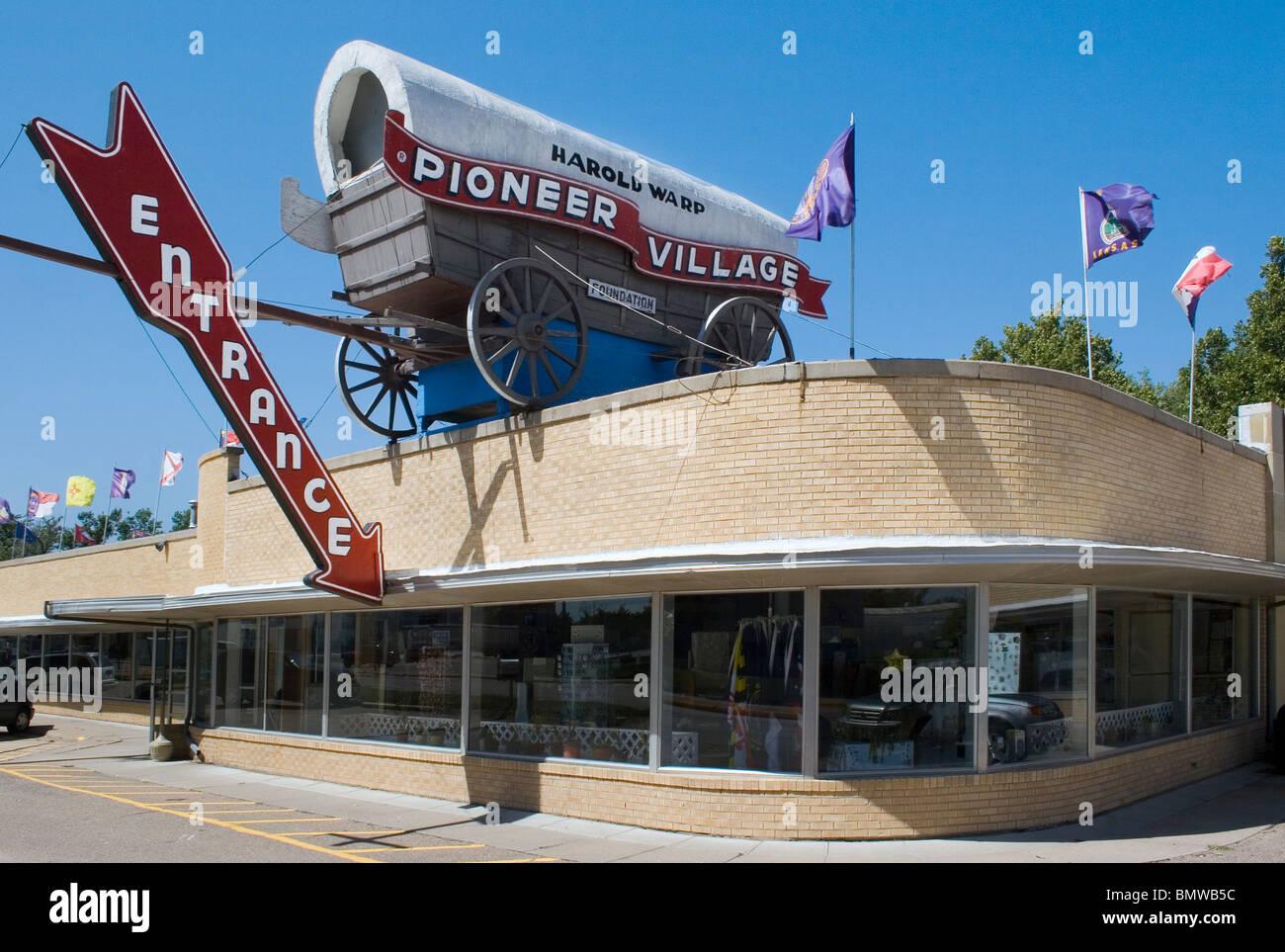 Harold Warp's Pioneer Village in Minden Nebraska - Stock Image
