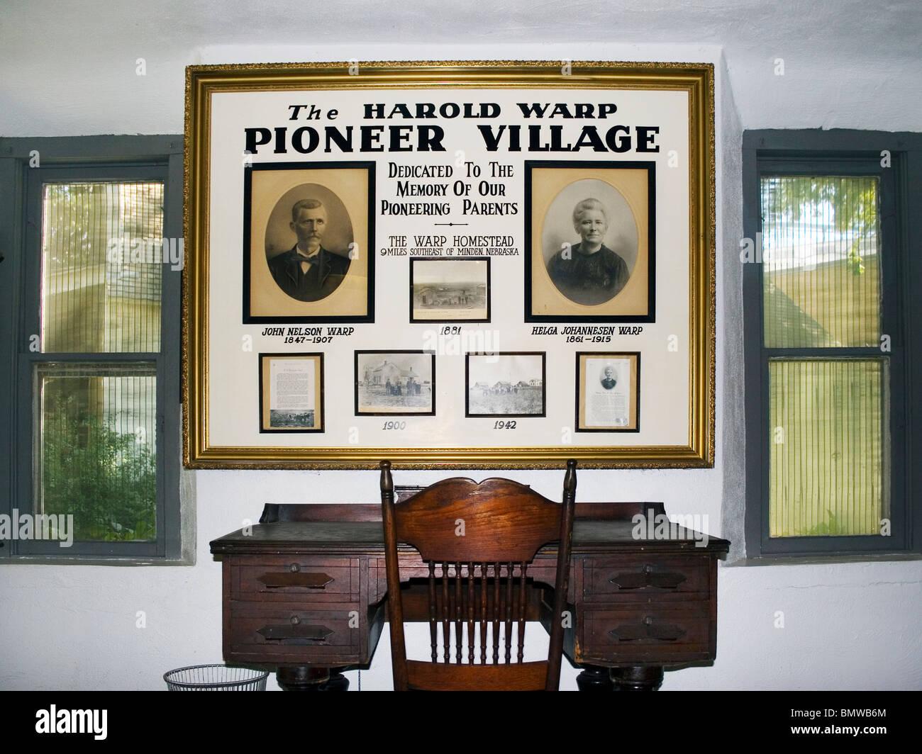 Harold Warp's Pioneer Village in Minden Nebraska. - Stock Image