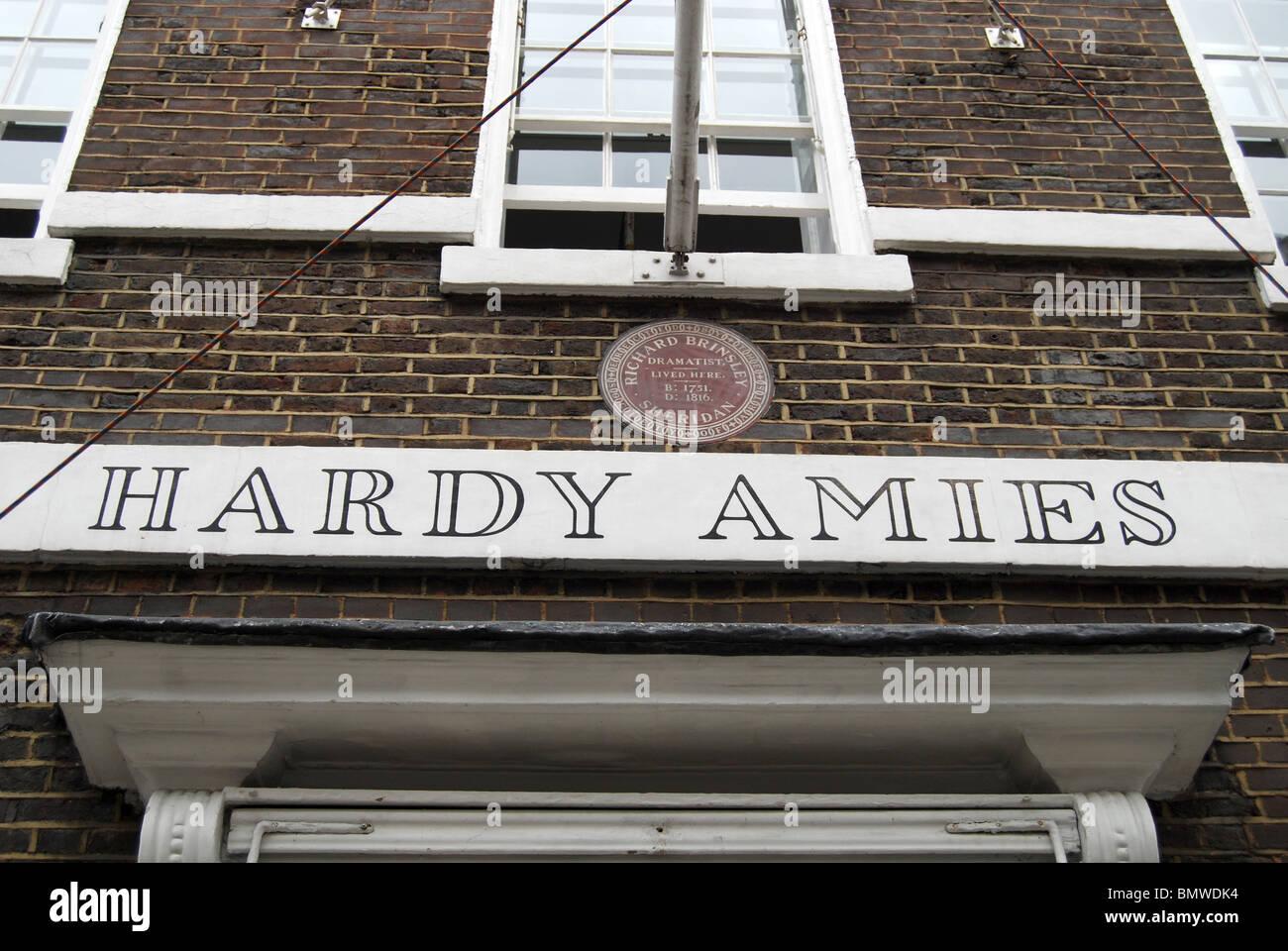 Hardy Amies Saville Row Bespoke Tailors London - Stock Image