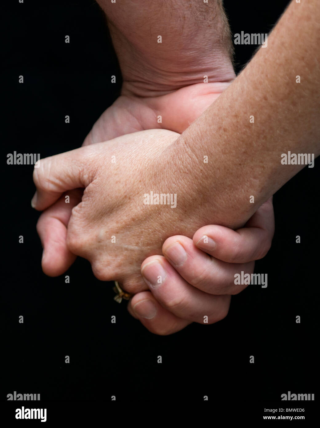 Fingers Interlocked High Resolution Stock Photography and