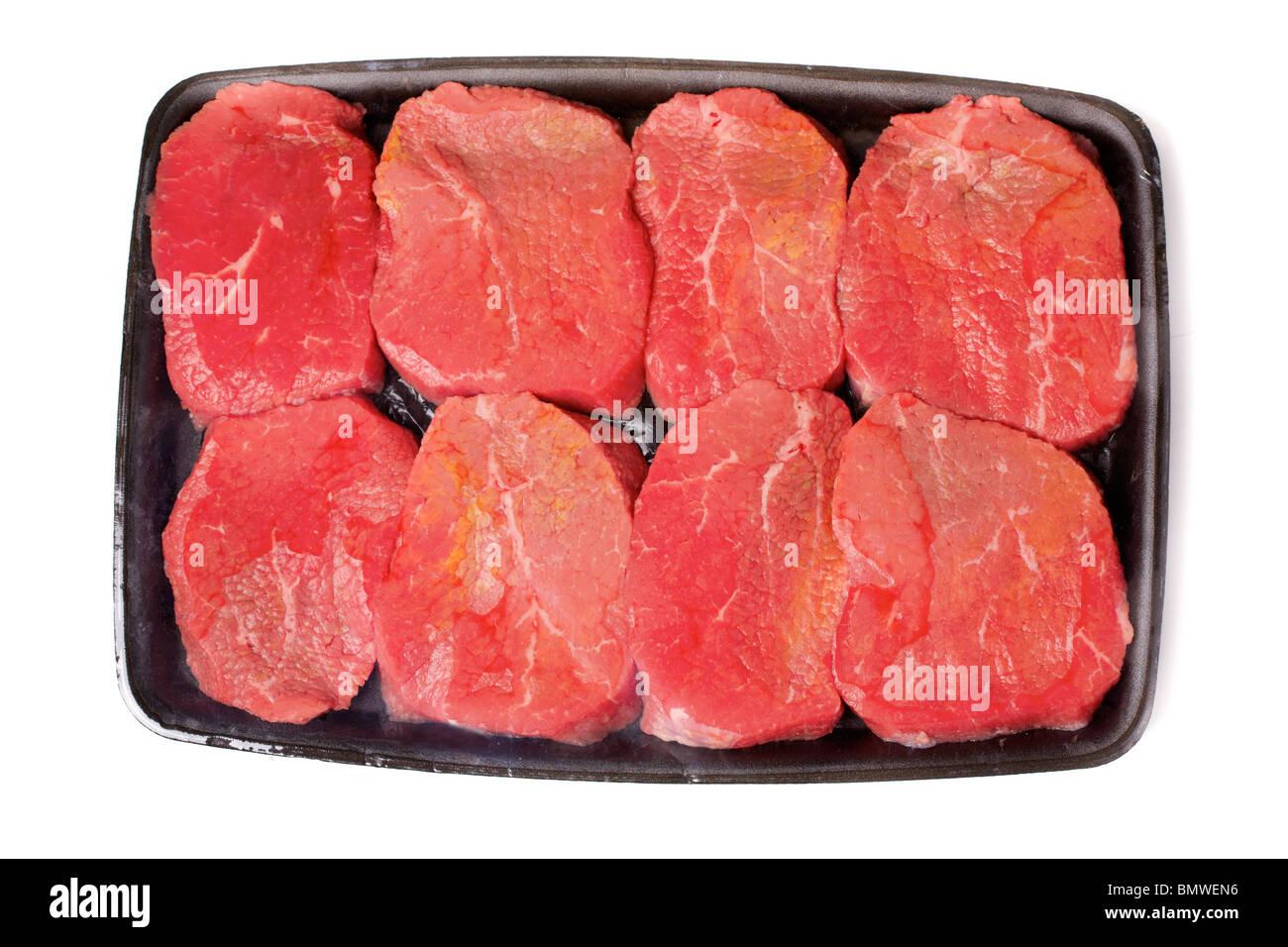 Package of steaks - Stock Image