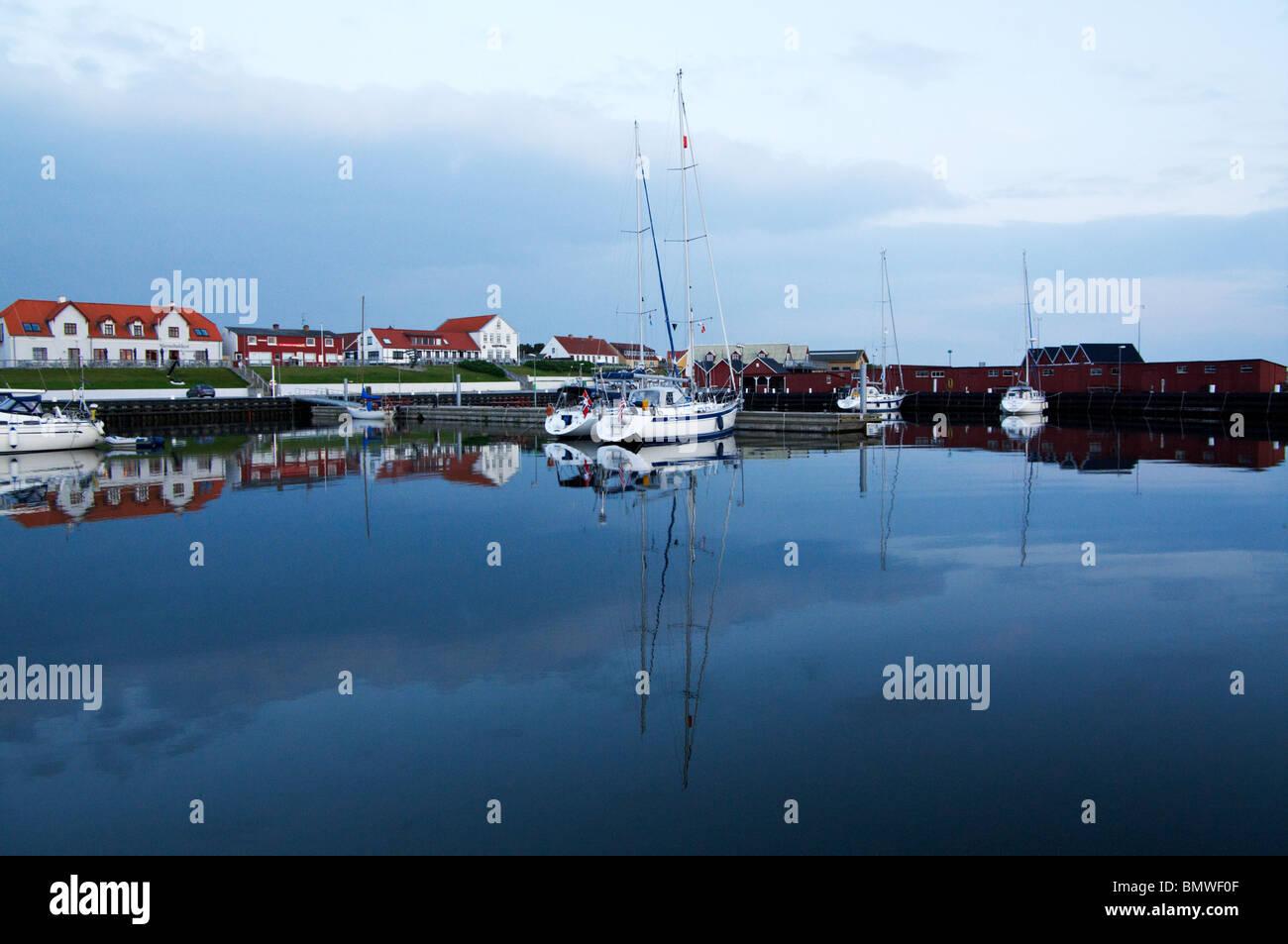 Sailboat at Vesterø Havn, Læsø - Stock Image