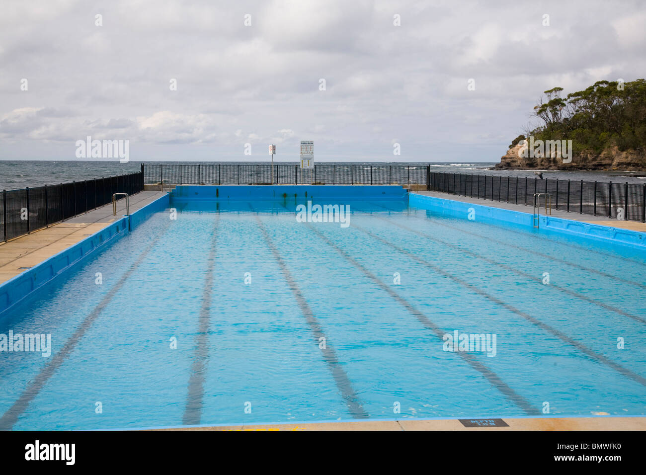ulladulla outside open air swimming sea pool, new south wales,australia - Stock Image