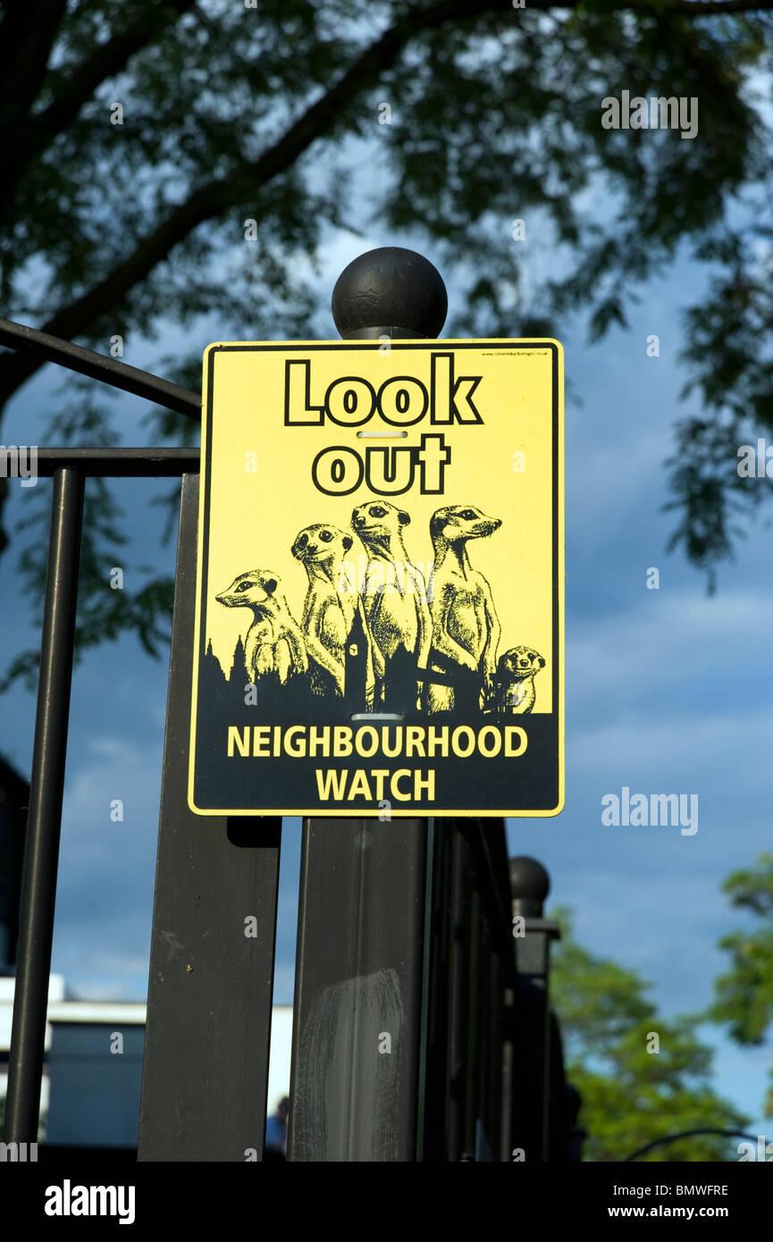 Neighbourhood Watch sign, London, England, UK - Stock Image