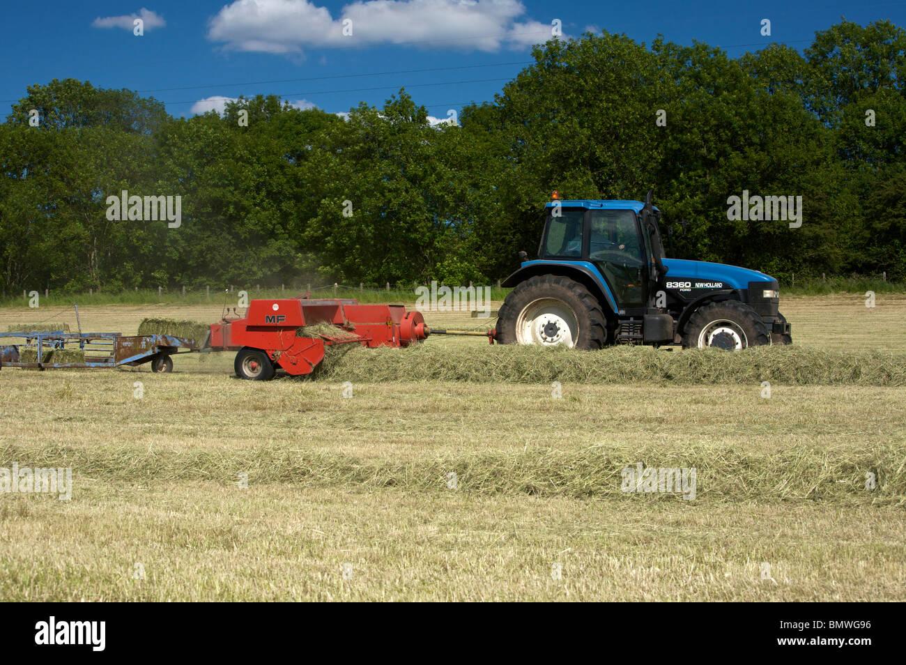 Baling Hay - Stock Image