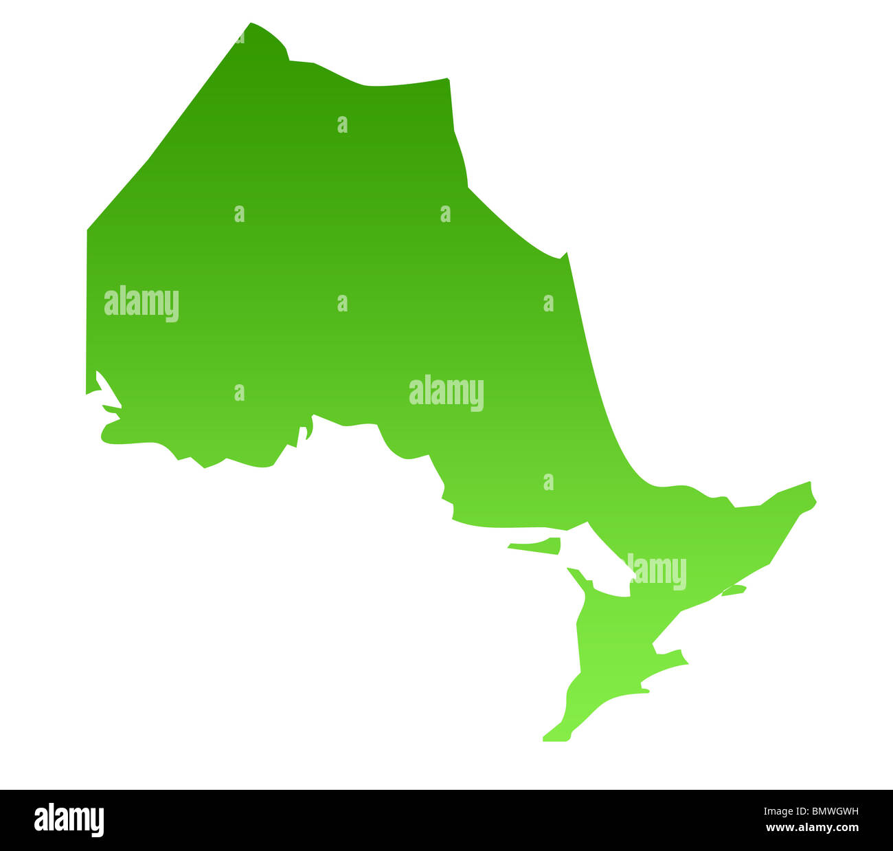 Canadian Province Map on