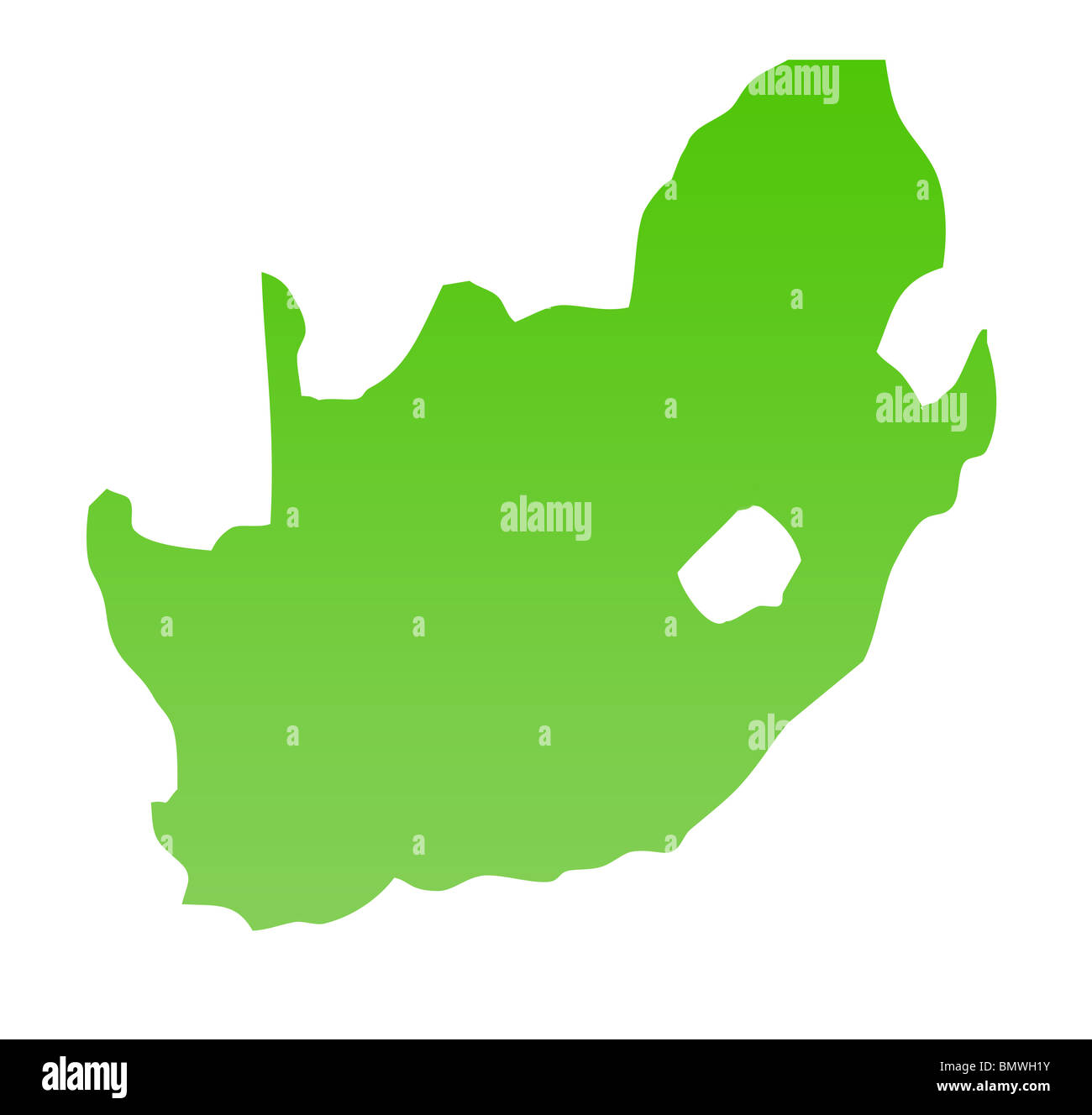 Africa Map Background.South Africa Map Isolated On A White Background Stock Photo