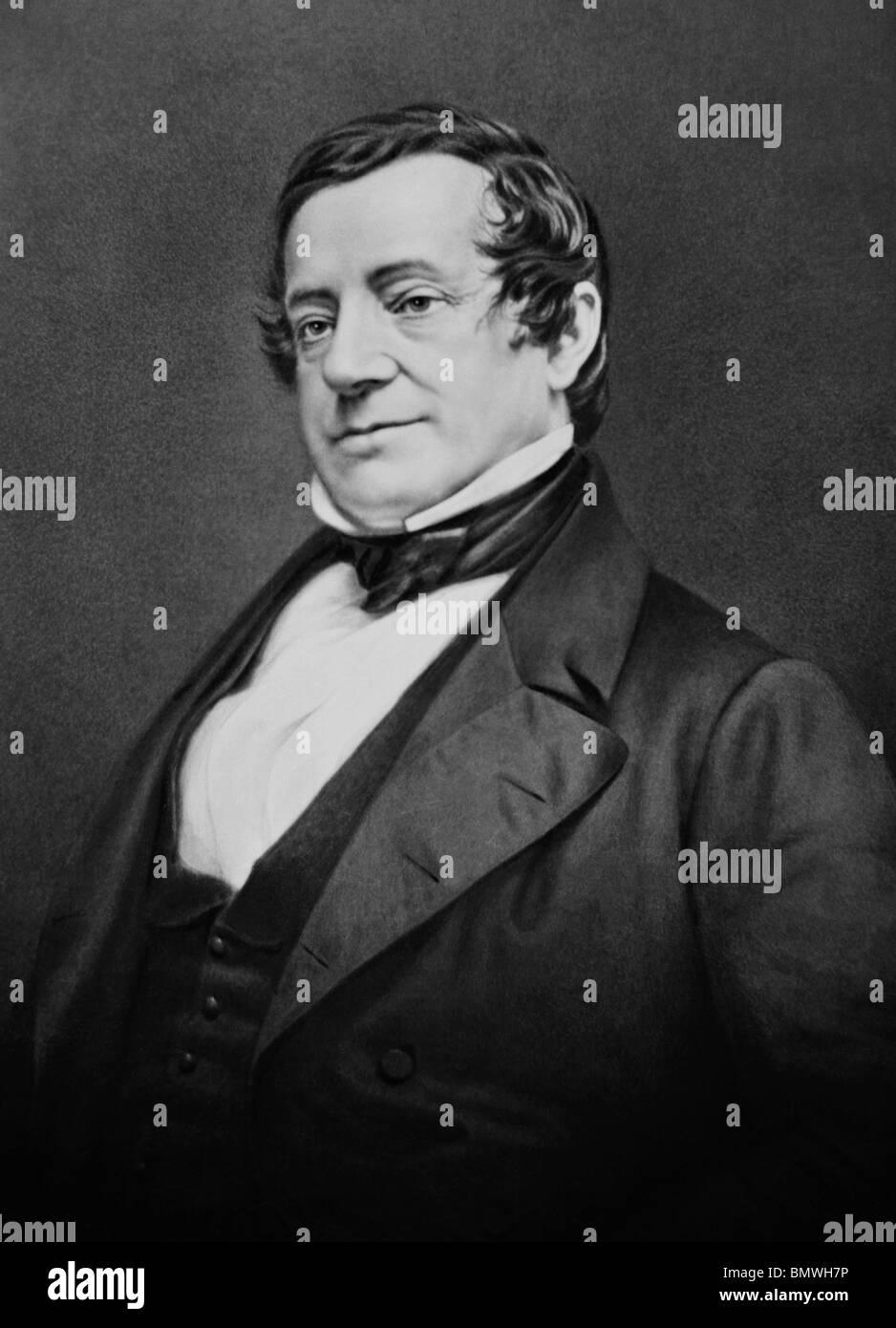 Daguerreotype portrait photo circa 1850s of American author, essayist, biographer and historian Washington Irving - Stock Image
