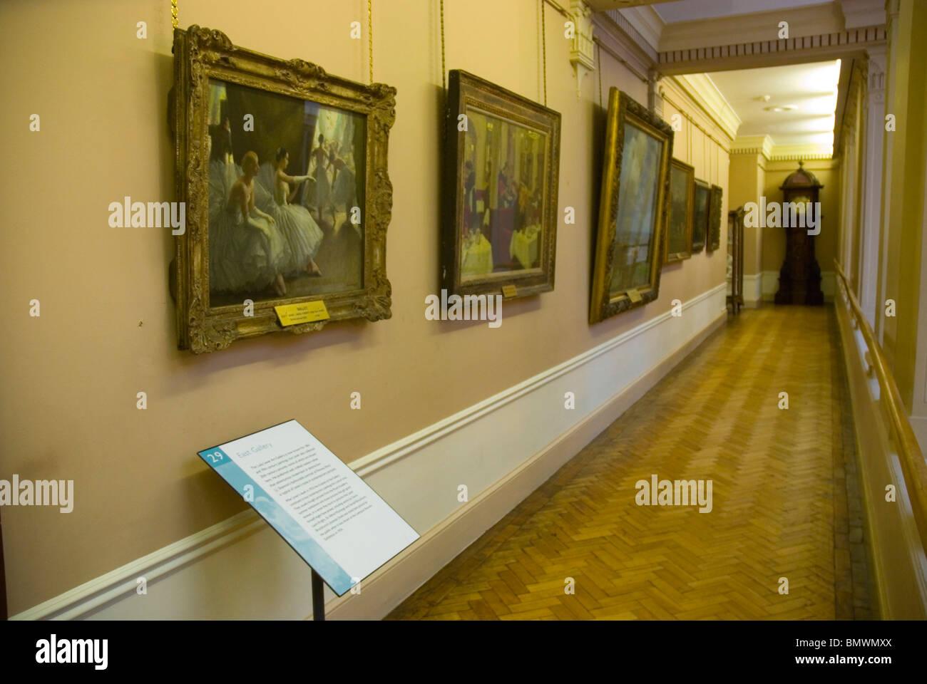 East Gallery in Lady Lever Art Gallery in Port Sunlight village Merseyside England UK Europe - Stock Image