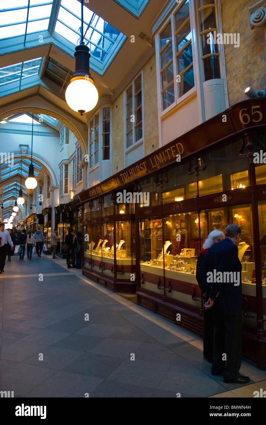 Burlington arcade Mayfair central London England UK - Stock Image