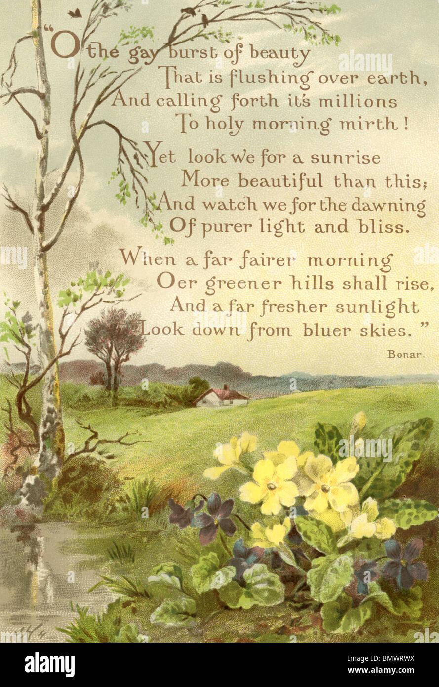 Poem - Stock Image