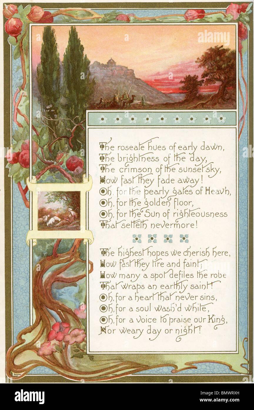 Decorative Poem - Stock Image