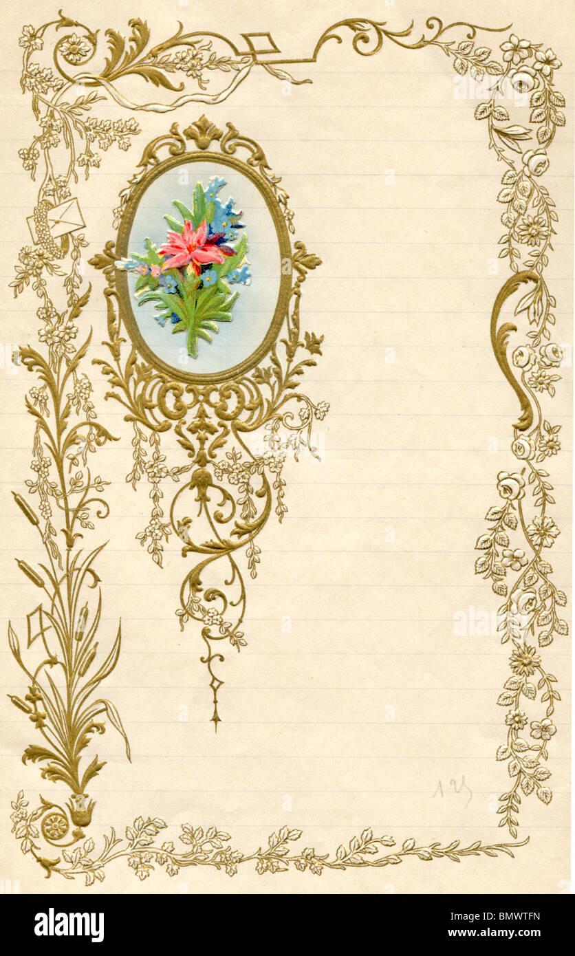 decorative writing paper stock photo: 30071545 - alamy