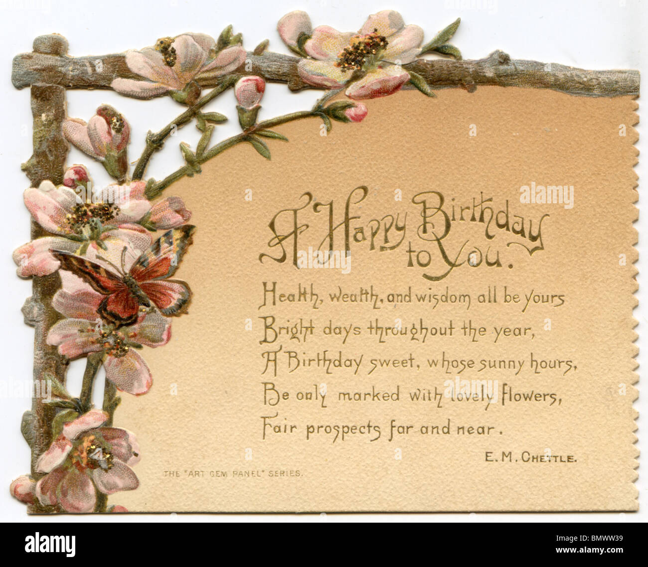 Birthday card with with flower stock photos birthday card with greeting card birthday stock image izmirmasajfo