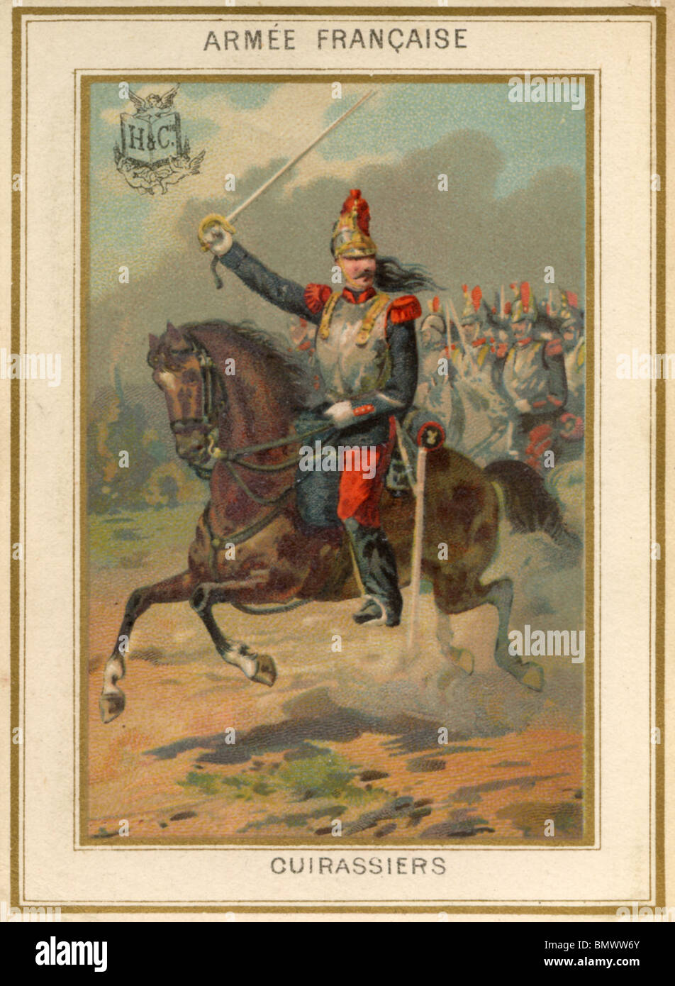 French Army - Cuirassiers Stock Photo
