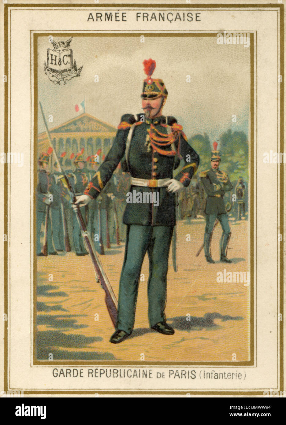 French Army - Republican Guard - Stock Image