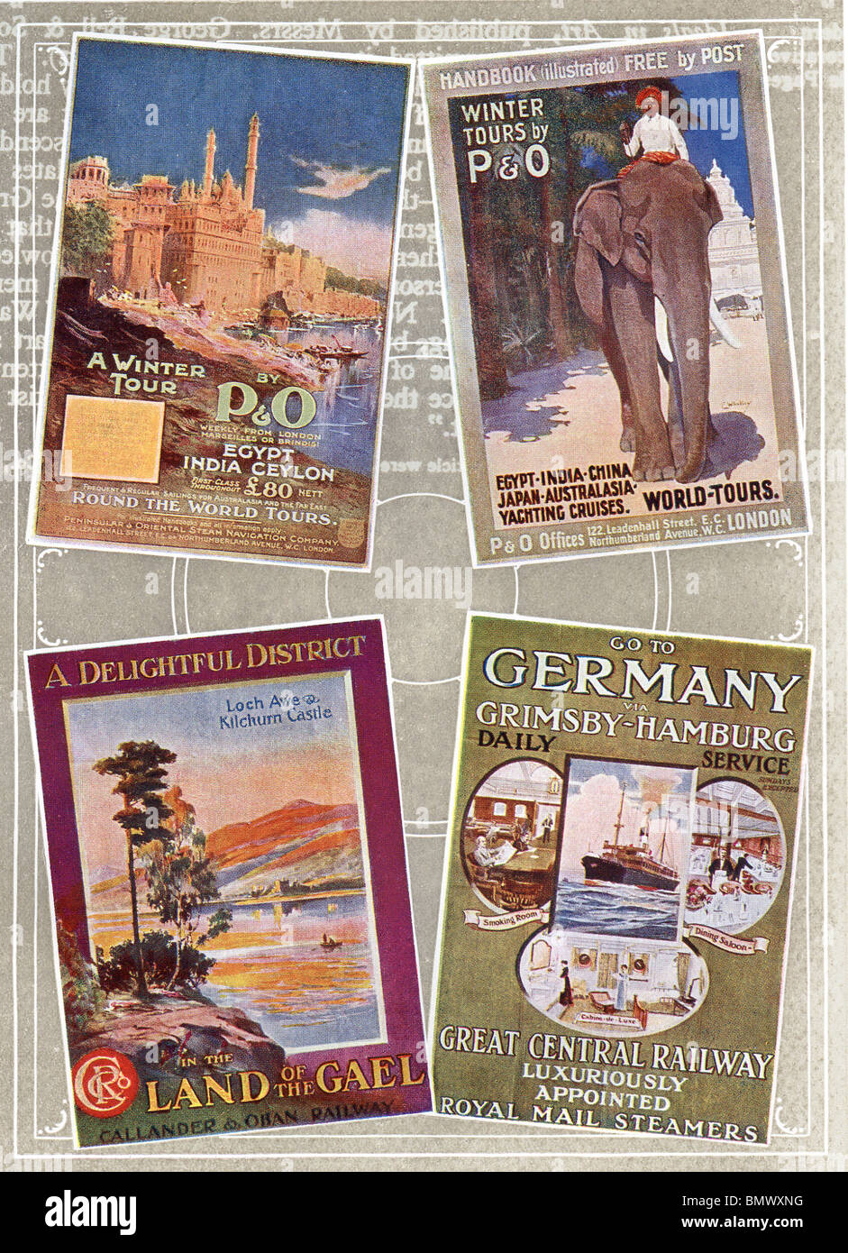 Poster Designs, early 1900's - Stock Image