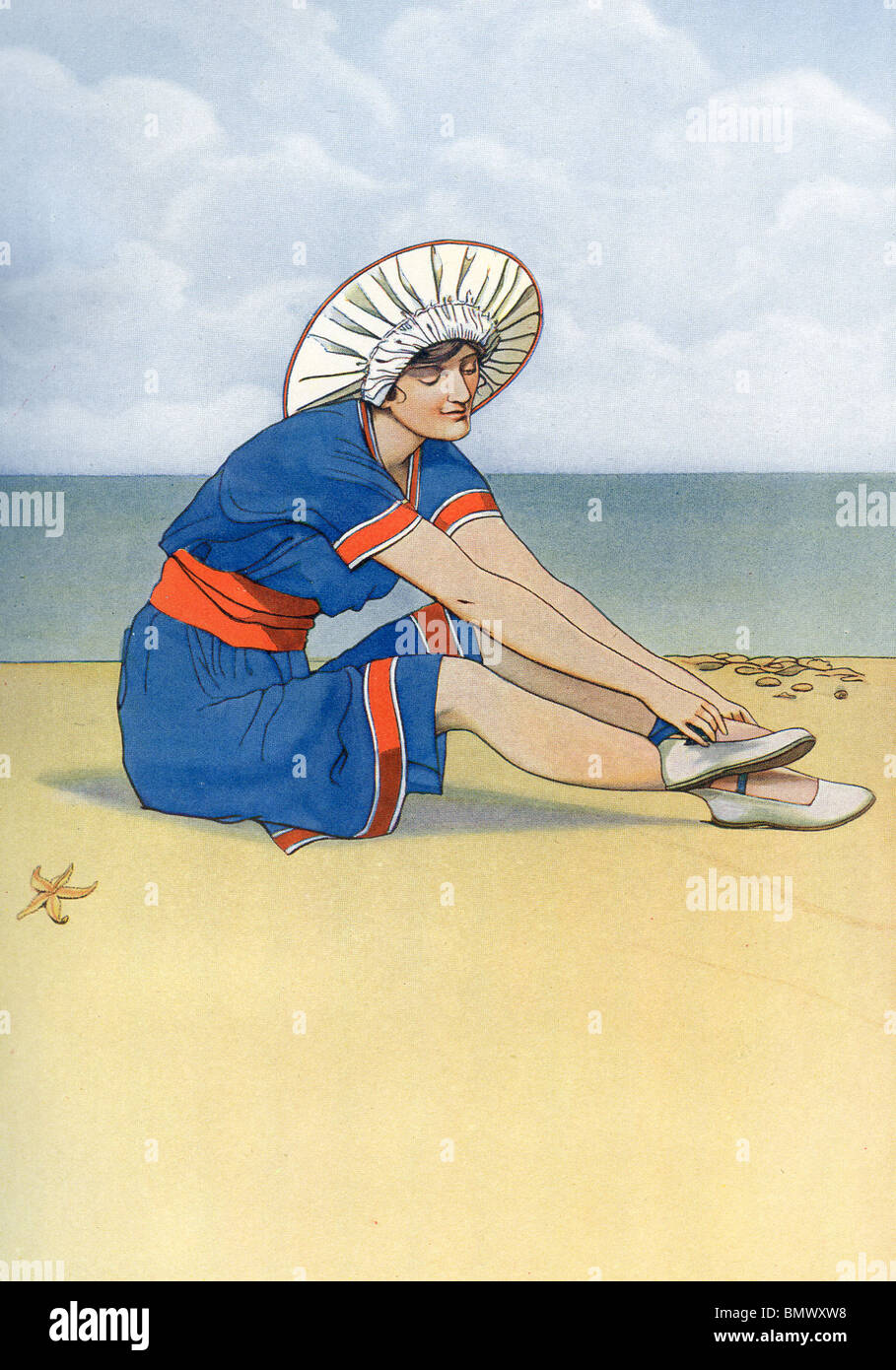 The Bather - Stock Image