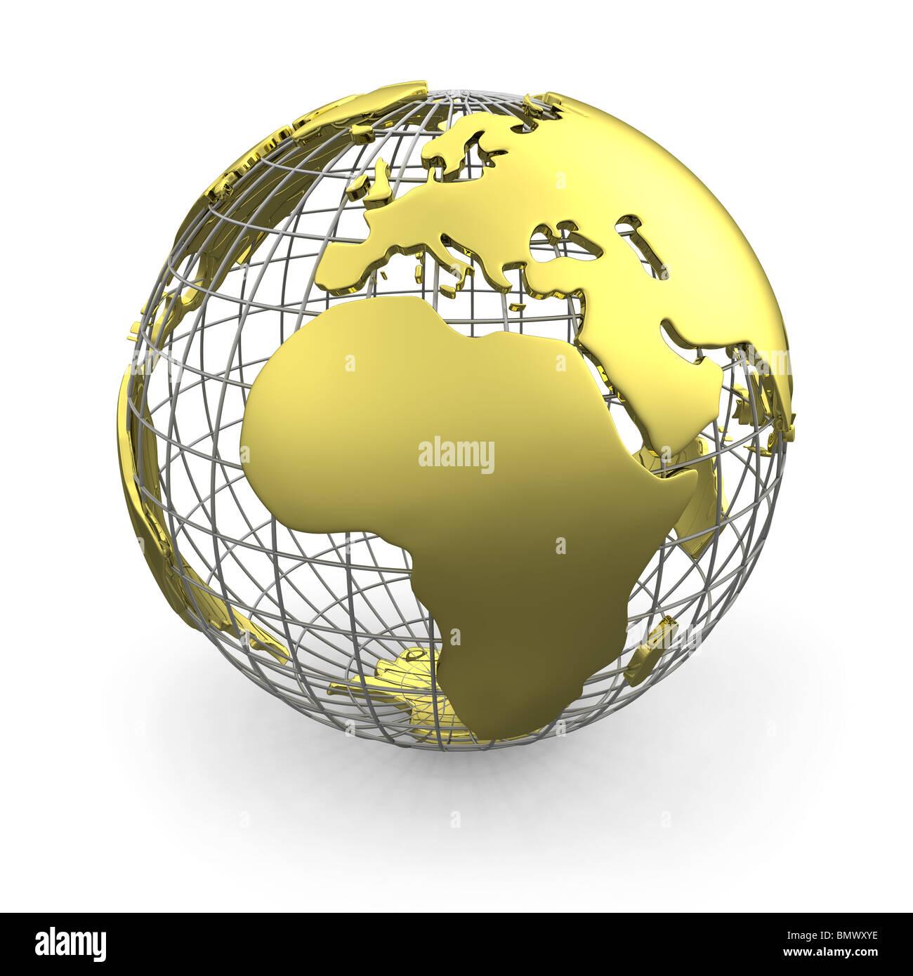 Golden globe, Europe - Stock Image