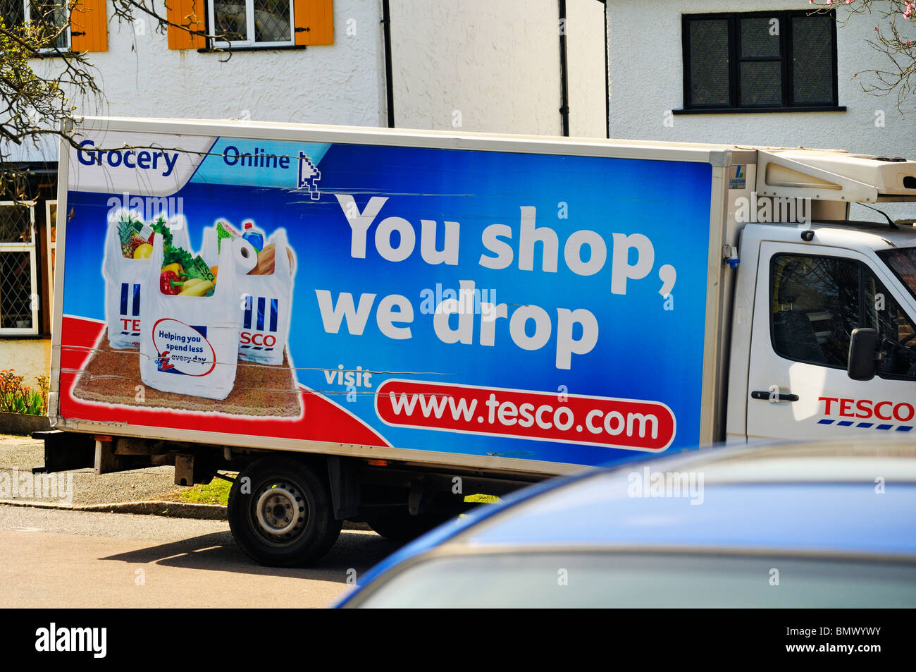 Tesco home delivery van - Stock Image