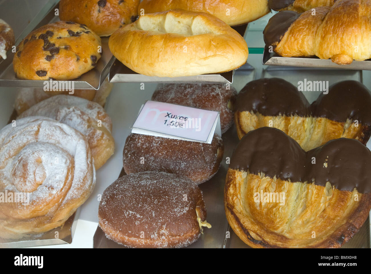 Cakes and pastries, Menorca, Balearics, Spain - Stock Image